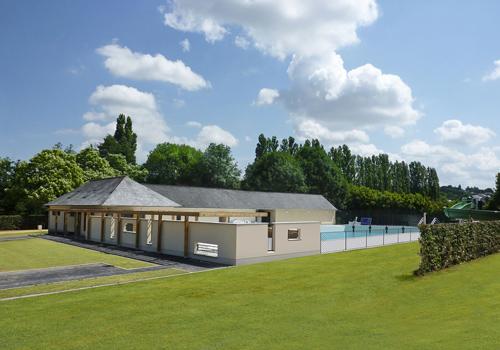 Atelier Les Particules Réhabilitation et extension d'une piscine - Bais